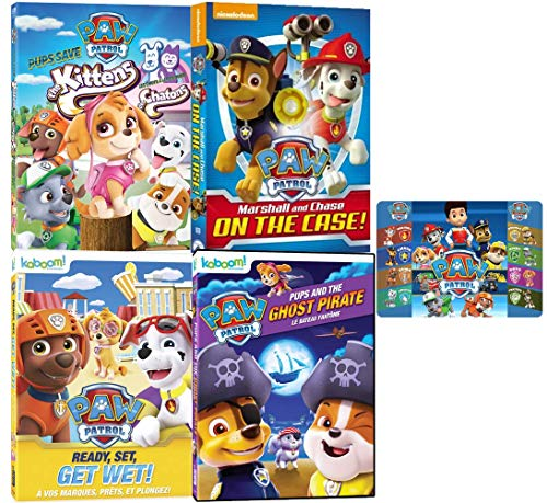 Paw Patrol Nick Jr. DVD Animal Gift Collection: Complete 24 Episodes with Art Card