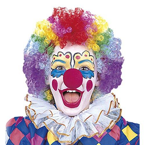 p und Schaumstoffnase mit Nase Schminke und Clownnase Clown Makeup Karneval Kostüm Zubehör Kosmetik Accessoire Harlekin Schminkfarbe und Knubbelnase (Harlekin-make-up)