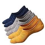 Anliceform Socquettes taille basse pour homme, invisible, antidérapantes en coton peigné chaussettes premium(3 Paires)
