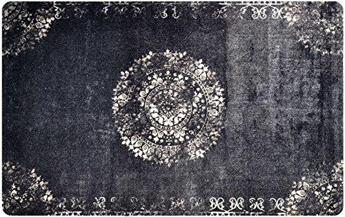 deco-mat Orientteppich – Fussmatte Orient – Fussmatte Innen Rutschfest und waschbar – Schmutzfangmatte/Fussabtreter 75x120 cm