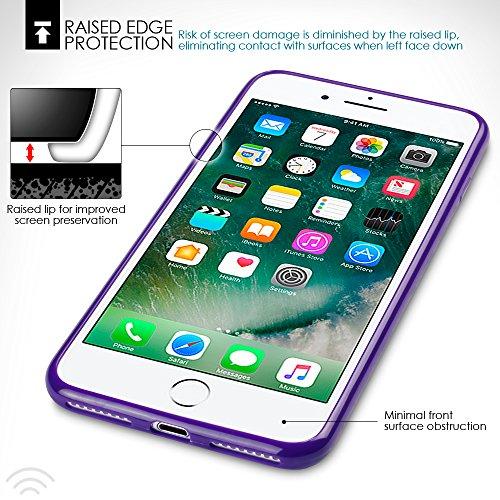 iPhone 8 Plus / iPhone 7 Plus Cover, Terrapin TPU Schutzhülle Tasche Case Cover für iPhone 8 Plus / iPhone 7 Plus Hülle Lila Lila