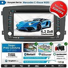 2DIN auto Radio creatone V 336dg per Mercedes Classe C W203(03/2000–08/2004) con gps Navigation (Europa), Bluetooth, touch screen, lettore DVD e USB/SD della funzione