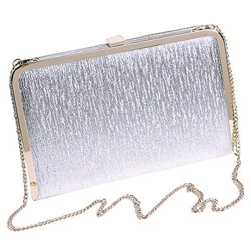 Sasairy 20x12x3cm Donna Bling Pochette Eleganti da Cerimonia Piccolo Mini Sera Borsa Glitter della Matrimonio Regalo di Compleanno Argento/Oro/Nero Argento