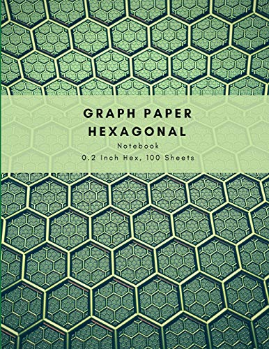 Graph Paper Hexagonal Notebook 0.2 Inch Hex, 100 Sheets: Handy Book With Small Hexagons; Isometric Composition Journal Suitable For Organic Chemistry, Gaming, Knitting & Everyday Sketching & (Prep School Kostüm)