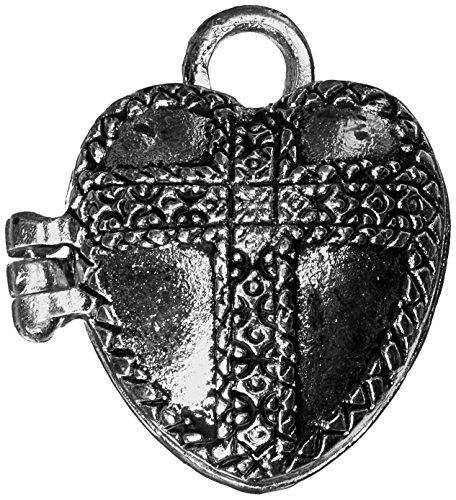 Darice Prayer Box Metall Charm 1/pakage-Antique Silber Herz - Darice-box