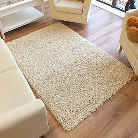 Twilight Rug Thick Luxurious Shaggy Ivory 2m x 2.5m (6'6 X 8'2 Approx)