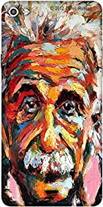 Snoogg Einstein Scientist'S Vision Designer Protective Back Case Cover For Micromax Canvas Silver 5 Q450