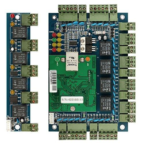 ZOTER Zugang Control Board, Ethernet TCP IP Netzwerk Haustür-Panel Controller 4Türen 4Leser Datenbank Sicherheit System + Extension Board - Tür Control Panel