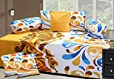 #7: Décor Hub Cotton Dewan Set with 5 Cushion Cover and 2 Bolster Cover