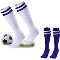 kuou Kids Football Socks, Childrens Football Socks Breathable Sports Training Accessories Socks Soccer Hockey Rugby Tube…