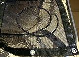 Sandkastenplane 1,70m x 1,70m, randverstärkt, inkl. Gummiseil und Metallösen, Farbe: schwarz