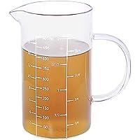 77L Mesurer, Verre doseur [Poignée isolante, bec en V],Verre Borosilicate Tasse à mesureur en verre pour cuisine ou…