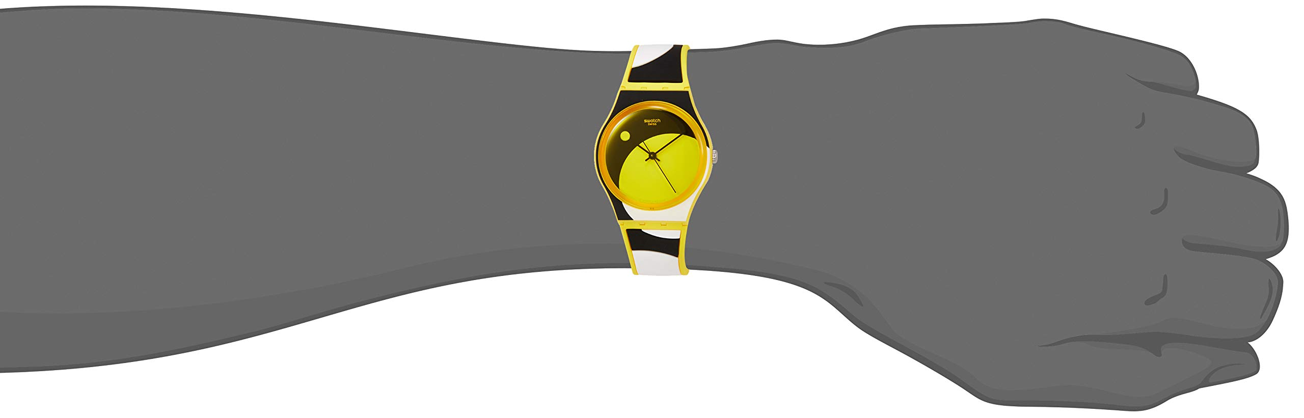 Swatch Reloj Analógico para Unisex Adultos de Cuarzo con Correa en Silicona