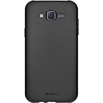 AMZER Pudding Soft Gel TPU Skin Case for Samsung Galaxy J7 SM-J700F - Retail Packaging - Black