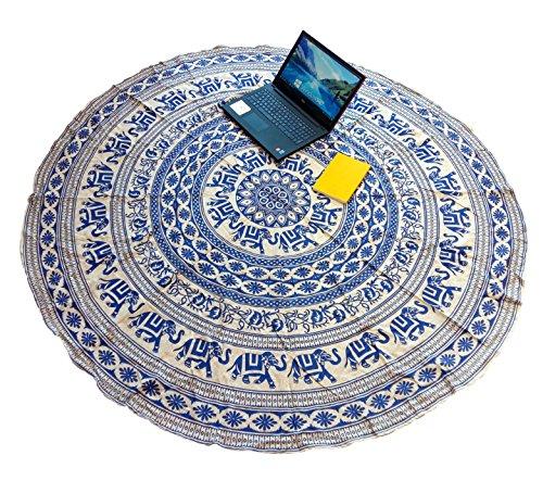 Sarjana Handicrafts 100% algodón redondo de playa manta Roundie tapiz Yoga Mat...