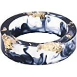 8mm Ocean Style Transparent Plastic Resin Wedding Band Cocktail Party Ring