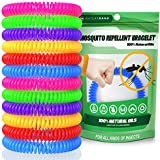 Naturaband Mosquito Repellent Bracelets - 12 Pack - All Natural Bug & Insect Control DEET-FREE, Protection For up to 250 HRS