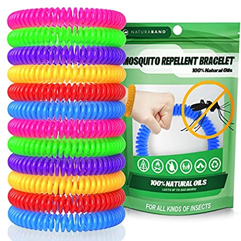 Naturaband Mosquito Repellent Bracelets - 12 Pack