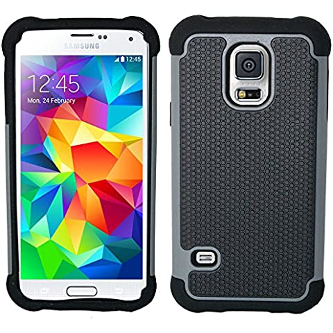 Etui wz-choc-i9300-gris – Carcasa para Samsung Galaxy S5 Mini, compatible con Samsung Galaxy S5 Mini, color