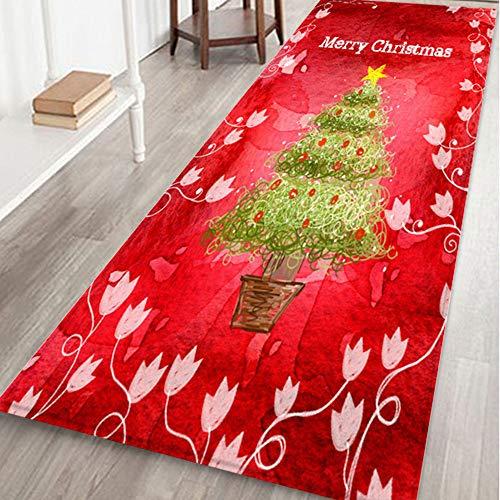 Mitlfuny Weihnachten Home TüR Dekoration 2019,Frohe Weihnachten Willkommen FußMatten Indoor Home Carpets Decor 40x120CM -