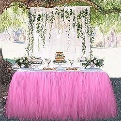 OurWarm tul Tutu Falda Fiesta vajilla de mesa para boda decoración bebé ducha fiesta de cumpleaños 100cm x 80cm