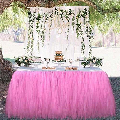 ed08ccb32 OurWarm tul Tutu Falda Fiesta vajilla de mesa para boda decoración bebé  ducha fiesta de cumpleaños 100cm x 80cm