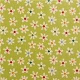 Tela laminada verde flores mini de Riley Blake My Sunshine
