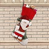 Weihnachtsstrümpfe 3D Retro Personalisierte Weihnachtssocken Dekoration Weihnachten Neujahr Weihnachten Socken Weihnachten Süßigkeiten Vorhanden Dekoration Socken Tasche Weihnachts Strümpfe Gifts (Weihnachtsmann)
