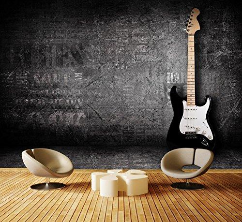 Fototapete E-Gitarre Tapete Kunstdruck Wandbild Vliestapete XXL   XL 350 x 245 cm - 7 Teile   Vlies