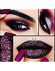 Mettalic Plum Deep Purple Glitter Lips Eyeshadow Nail Art Face And Body 5ml Pot