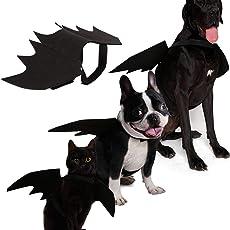 KOBWA Katze Hund Bat Kostüm Flügel, Pet Fledermaus Vampir, Halloween Katze Kostüm für Katzen Hunde Pet Fledermaus Flügel Katze Hund Fledermaus Kostüm Flügel