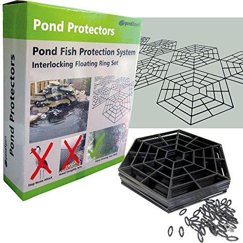 pondxpert-schermo-galleggiante-per-pesci-laghetto-interlocking-anelli-proteggere-pesci-di-airone-sup