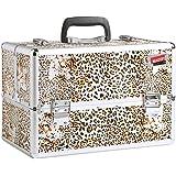 Beautify - Grosser Professioneller Leoparden Druck Aluminium Beauty Kosmetik & Make Up Koffer