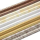 PowerBH Tira tridimensional de ribete de pared autoadhesiva tridimensional Sello impermeable a prueba de humedad Pared lateral Marco de puerta Línea de cintura Decoración de la pared del hogar