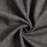 Fabulous Fabrics Mantelstoff Köper – anthrazit —
