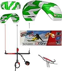 Peter lynn xplore snowkite ,Landboarding, Kite Trainer, discovery pack 4.0 Kite + Trapez + Bar+ Dvd grün