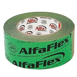 3x Alfa Flex Folienklebeband für Dampfbremse, aggressiv klebendes Dampfsperrklebeband 50 mm x 25 m, entspricht ZVDH & EnEV
