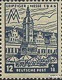 Sowjetische Zone (All.Bes.) 163V, Farbfleck über den Dachfenstern (Feld 31) 1948 Leipziger Messe (Briefmarken für Sammler)