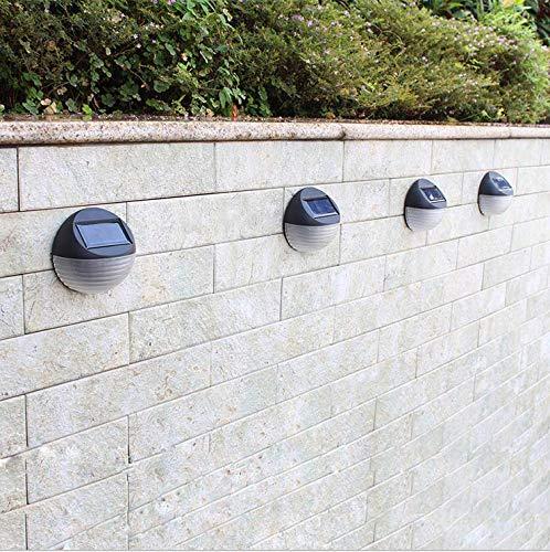 Neue Solar Wandleuchte 3er Pack LED Outdoor wasserdicht Mini Garten Villa Hof Schritt Landschaft Licht 10,5 * 10,3 * 5,0 cm -