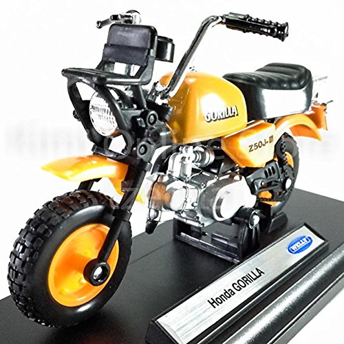 Welly 1:18 Die-Cast Honda Gorilla Motorcycle Orange Color Model Collection Christmas New Gift