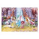 Kindertapete - Mia and Me - Mia und Onchao mit den Einhörnern von Centopia - Vlies Fototapete Breit, Größe HxB: 190cm x 288cm