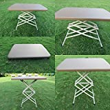 #4: Amaze Adjustable Variable Height Outdoor Garden Folding Table (Coffee, 2' X 1.5')