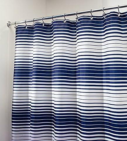 Tissus Rideaux - mDesign Rideau de douche en tissu, Gradient