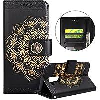 Funda LG K8 ,Surakey Marco de Cuero de la PU Flip Protectora de Cuerpo Completo Case Cover Slim Case de Estilo Billetera Carcasa Libro de Cuero para LG K8 ,Negro