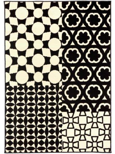 benuta-Patchwork-Swing-Teppich-Kunstfaser-schwarz-wei