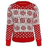 LaiYuTing 2020 herfst en winter nieuwe gebreide trui dames kerst sneeuwvlok lange mouwen gebreide trui