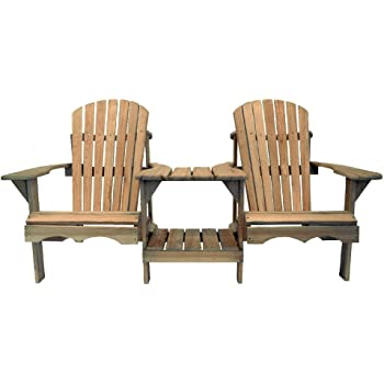 Cool Products Sessel Bausatz Adirondack Chair, beige, 91 x 140 x 91 cm, 01-TT-Addi-2S