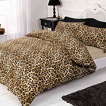 Just Contempo 4pc Leopard Print Duvet Cover Set, King, Brown ... : leopard quilt cover set - Adamdwight.com