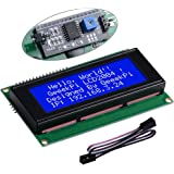 GeeekPi IIC/I2C 2004 20x4 Character LCD Module Display, Support I2C Protocol, LCD 2004 Module Shield for Arduino Uno Raspberr