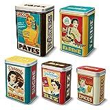 Set 5 boites metal gigogne «housewives»